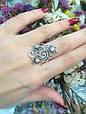 Серебряное кольцо Лаванда 34059, фото 2