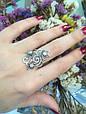 Серебряное кольцо Лаванда 34059, фото 3