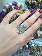 Серебряное кольцо Лаванда 34059, фото 4