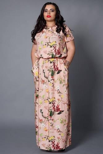 2cf3ec6547abe02 Обалденное летнее платье длинное в пол с роскошным цветочным рисунком от  оптово-розничного магазина одежды