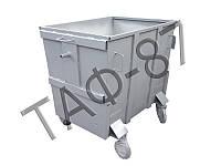 Евроконтейнер для мусора 1,1 м.куб., 2,0 мм без крышки