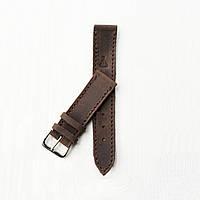 Кожаный коричневый ремешок для часов