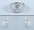 Серебряное кольцо Сердца без камней 34076, фото 2