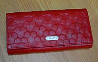 Кошелек красный  кожаный  модный реплика