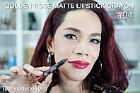 Помада карандаш для губ Golden Rose Matte Lipstick Crayon, матовая 4