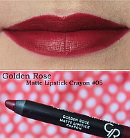 Помада карандаш для губ Golden Rose Matte Lipstick Crayon, матовая 5