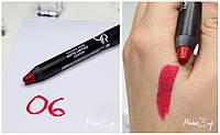 Помада карандаш для губ Golden Rose Matte Lipstick Crayon, матовая 6