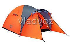 Палатка туристическая кемпинговая Navajo для кемпинга оранжевая двух местная с чехлом