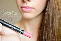 Помада карандаш для губ Golden Rose Matte Lipstick Crayon, матовая 12