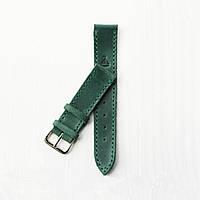 Кожаный зеленый ремешок для часов