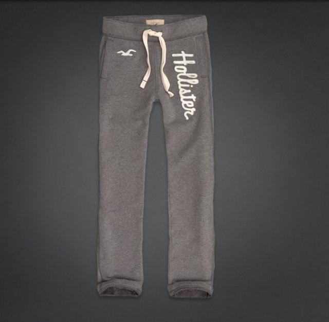 Штаны мужские спортивные Hollister cветло-серые и белые  купить в ... ca711d4c905