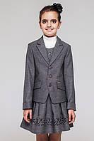 Школьный костюм 2-ка для девочки.Пиджак сарафан (серый).