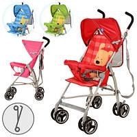 Коляска детская прогулочная, 8 колес, 4 цвета: розов, красн, зелен, голуб