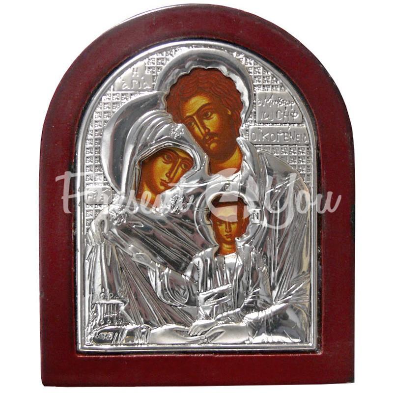 Икона «Святое Семейство» 8,7х7,2 см.