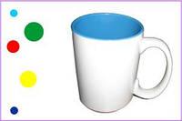 Печать на чашках белых цветных внутри, 425 мл.