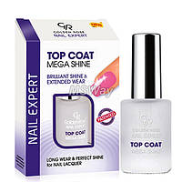 Golden Rose (Nail Expert) Top Coat Mega Shine - Покрытие ультра-блеск (закрепитель для ногтей) 11мл