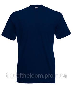 Мужская футболка классическая Fruit of the Loom  Valuweight T 61-036-0 Fruit of the Loom, L(50-52), Марокко, Глубоко-темно синий
