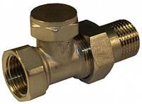 """Кран радиаторный прямой под ключ (низ) 1/2""""  7059"""