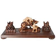 Настольный письменный набор Собаки и Кабан M315