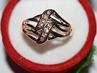 Кольцо на руку, желтый металл, белые стразы 23_4_1a41