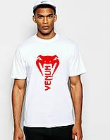 Стильная спортивная мужская футболка Venum белая