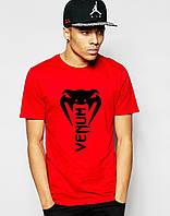 Стильная спортивная мужская футболка Venum красная