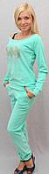 Велюровый костюм  мята, фото 1