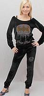 Велюровый костюм черный, фото 1