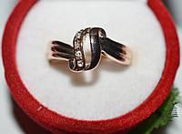 Кольцо на руку, желтый металл, белые стразы 23_4_1a44