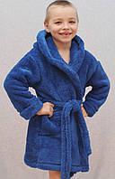 Халат детский махровый Ушки синий, фото 1