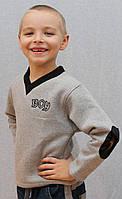 """Толстовка для мальчика """"Андрюлик"""" серая, фото 1"""
