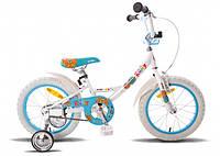 """Детский велосипед PRIDE Kelly бело-голубой глянцевый, 16"""" (BB 15)"""