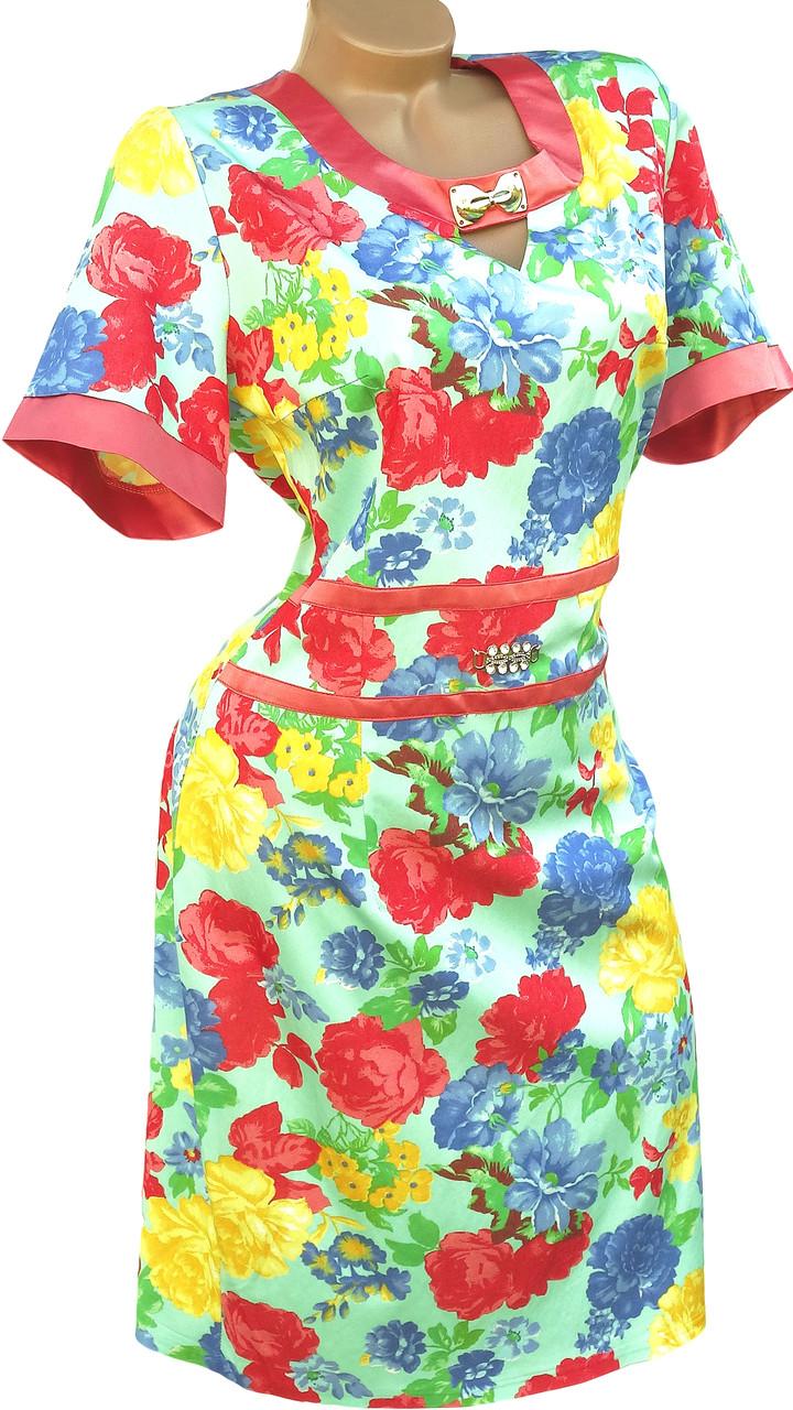 Яркое летнее платье больших размеров (56)