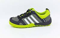 Кроссовки Adidas  Doroga (36-40) серый-салатовый