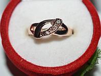 Кольцо на руку, желтый металл, белые стразы 23_4_1a55
