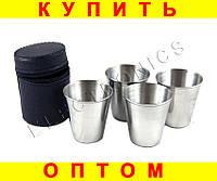 Набор стаканов рюмок в чехле D53 4 шт