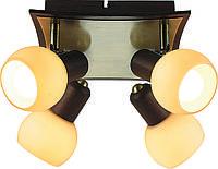 Люстра стельова Altalusse INL-9275C-04 Antique Brass - Walnut, фото 1
