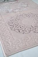 Набор ковриков для ванной OSMANLI (60*100, 50*60) розовый, фото 1