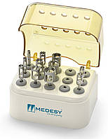 Бокс для хирургических сверл, полисульфон на 15 шт., Medesy 957/2, фото 1