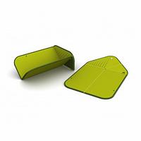 Складная разделочная доска-друшлаг(Зеленый)Joseph Joseph, фото 1