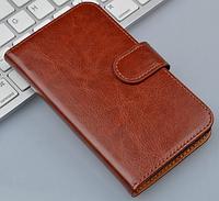 Чехол книжка для  Nokia Lumia 535 коричневый