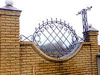 Декоративные кованные заборные вставки