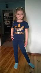 """Комплект лосины+футболка для девочек ADIDAS. ИМ """"ТЁМочКА""""."""