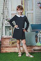 Школьное платье для девочки черное, фото 1