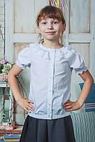 Школьная белая блузка для девочки, фото 1