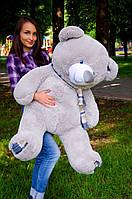 Мишка Барни 130 см.Мягкая игрушка.игрушка медведь.мягкие игрушки украина.Плюшевый мишка Серый
