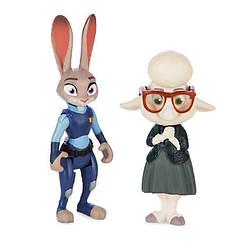 Зверополис набор фигурок Зайка Джуди Хоппс и Овечка мисс Барашкис заместитель мера / Zootopia Disney