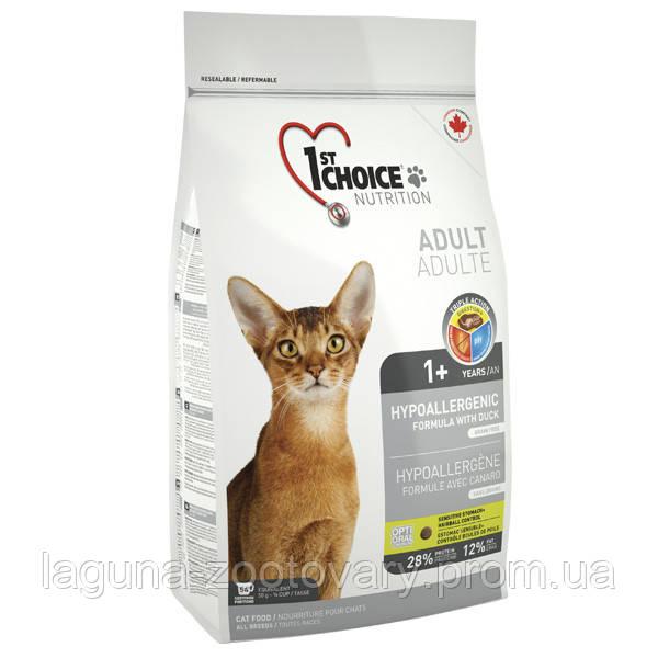 1st Choice (Фест Чойс) 5,44кг с уткой и картошкой гипоаллергенный сухой супер премиум корм для котов