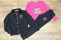 Спортивный костюм- тройка для девочек 4- 6 лет