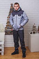 """Мужской зимний костюм на синтепоне """"Олег"""" р-ры) темно-серый"""